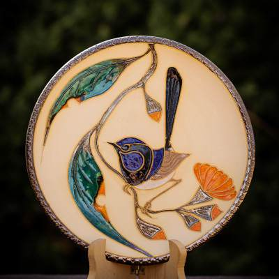 Medium Blue Wren Plate