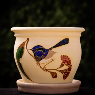 Blue Wren Planter